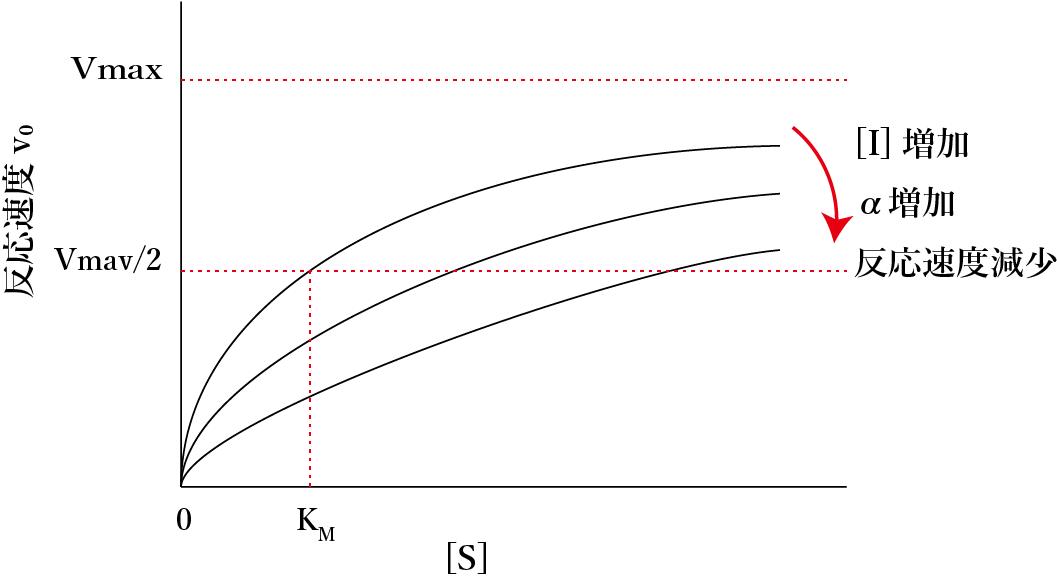 競合阻害反応速度図